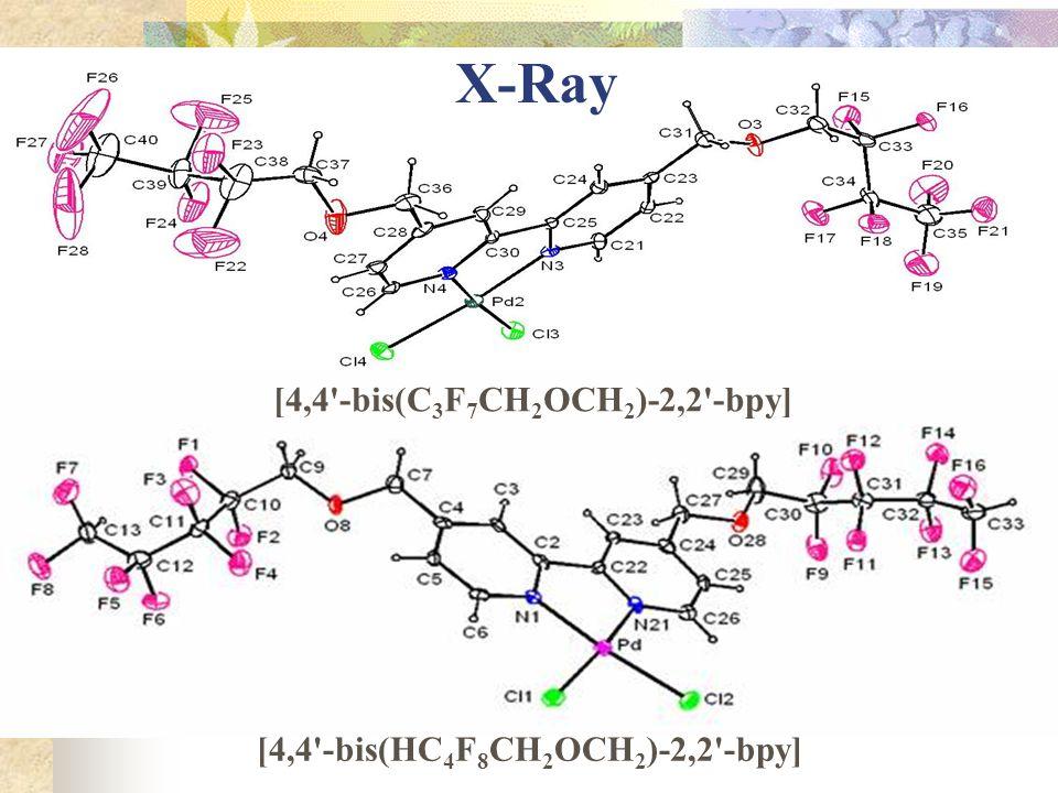 X-Ray [4,4'-bis(C 3 F 7 CH 2 OCH 2 )-2,2'-bpy] [4,4'-bis(HC 4 F 8 CH 2 OCH 2 )-2,2'-bpy]
