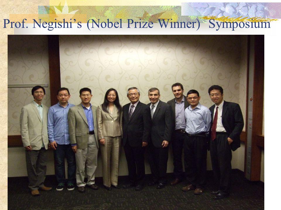 Prof. Negishi's (Nobel Prize Winner) Symposium