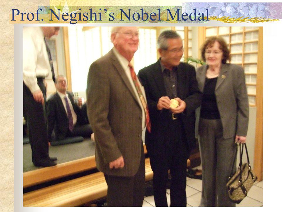 Prof. Negishi's Nobel Medal