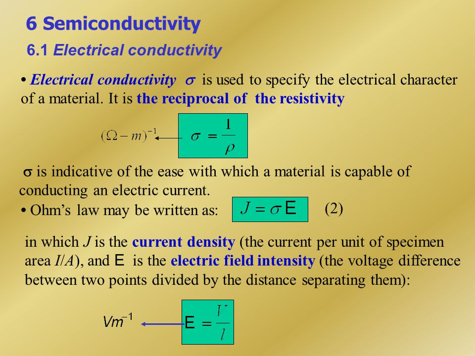 Within most solid materials a current arises from the flow of electrons (termed electric conduction).