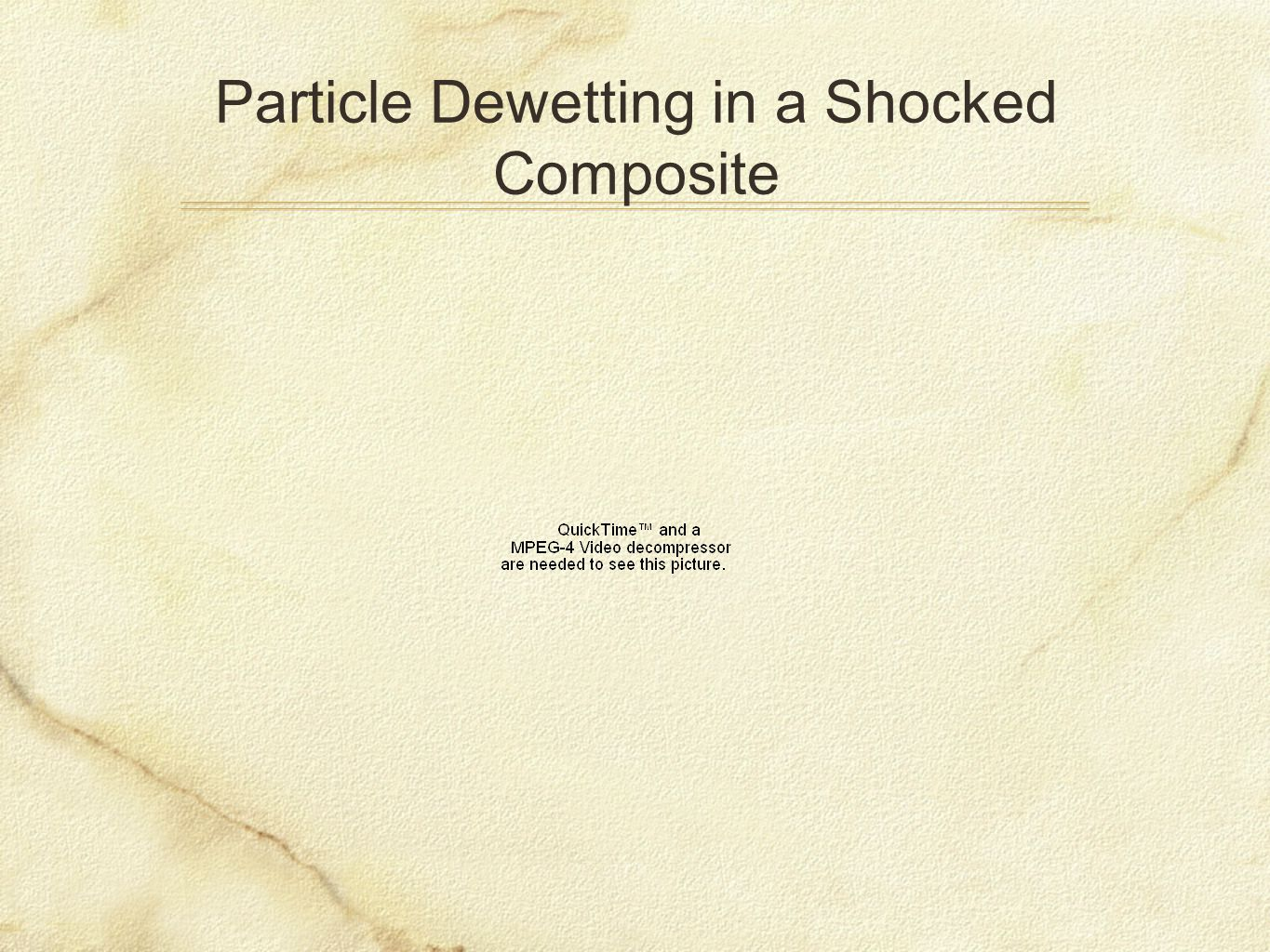 Particle Dewetting in a Shocked Composite