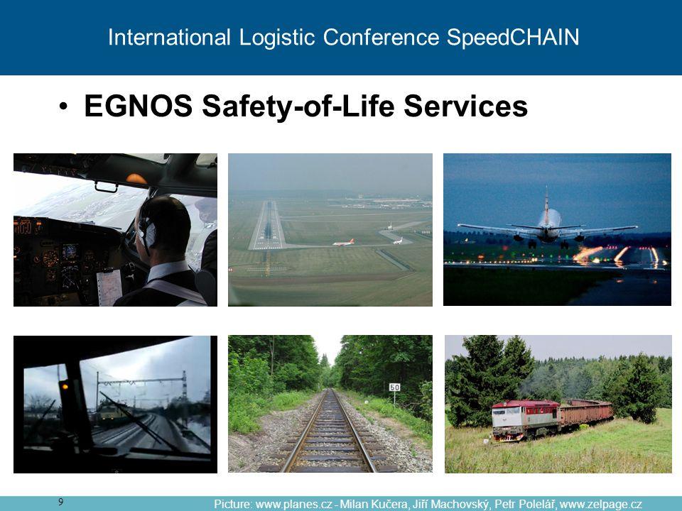 9 Picture: www.planes.cz - Milan Kučera, Jiří Machovský, Petr Polelář, www.zelpage.cz EGNOS Safety-of-Life Services International Logistic Conference SpeedCHAIN