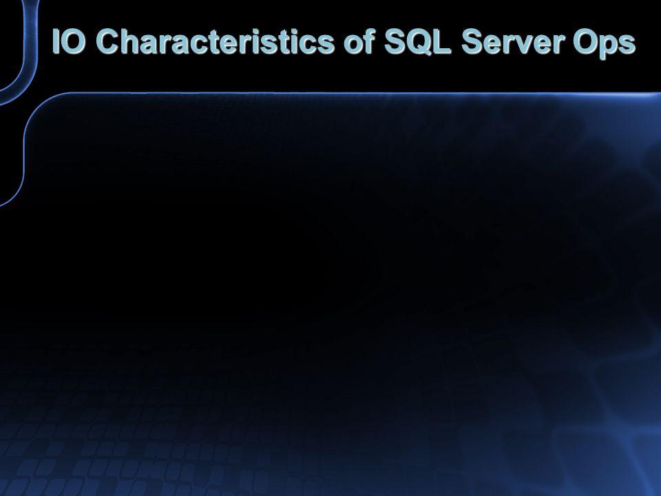 IO Characteristics of SQL Server Ops