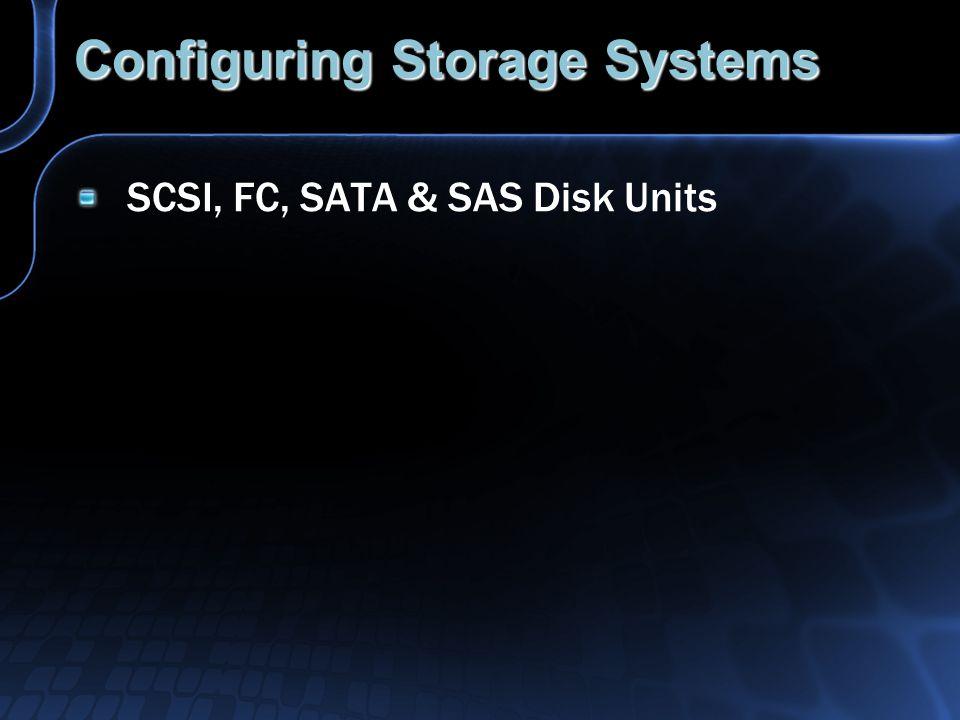 Configuring Storage Systems SCSI, FC, SATA & SAS Disk Units