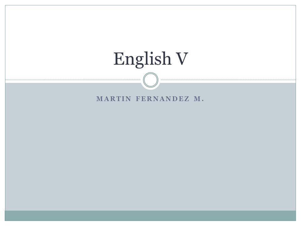 MARTIN FERNANDEZ M. English V