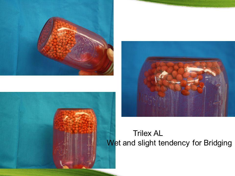 Trilex AL Wet and slight tendency for Bridging