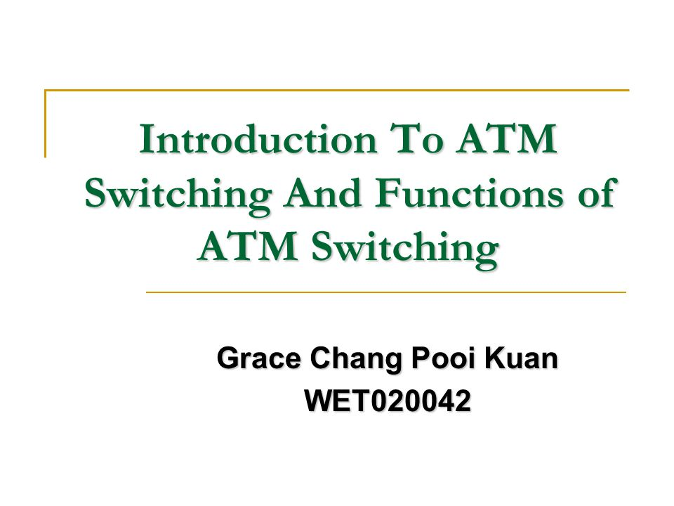 Performance: a) Connection Blocking Since ATM is defined to be connection oriented, after connection set-up, a logical connection must be found between the logical inlet and the logical outlet.