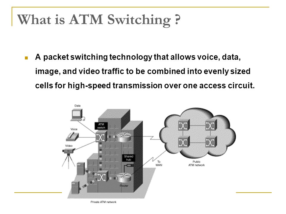 Performance: Performance: b) Cell Loss, Cell Insertion In an ATM switch it is possible that temporarily too many cells in the switch have to be transmitted through the same link (switch internal or external link).