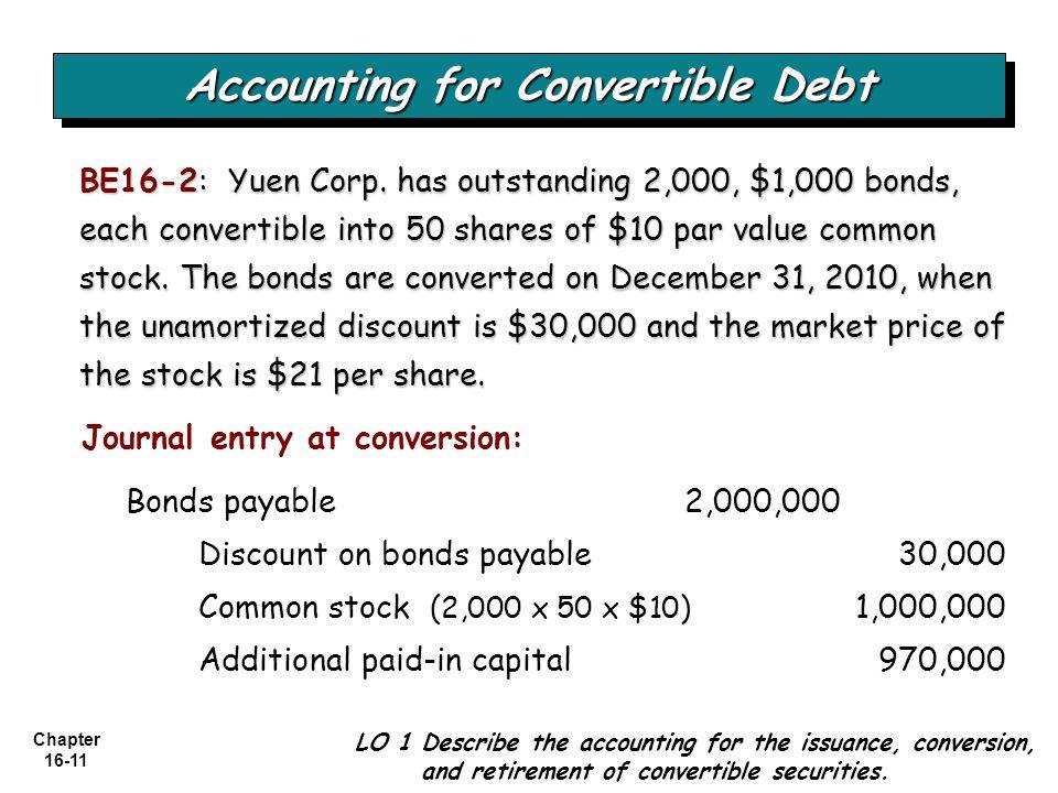 Chapter 16-11 BE16-2: Yuen Corp.