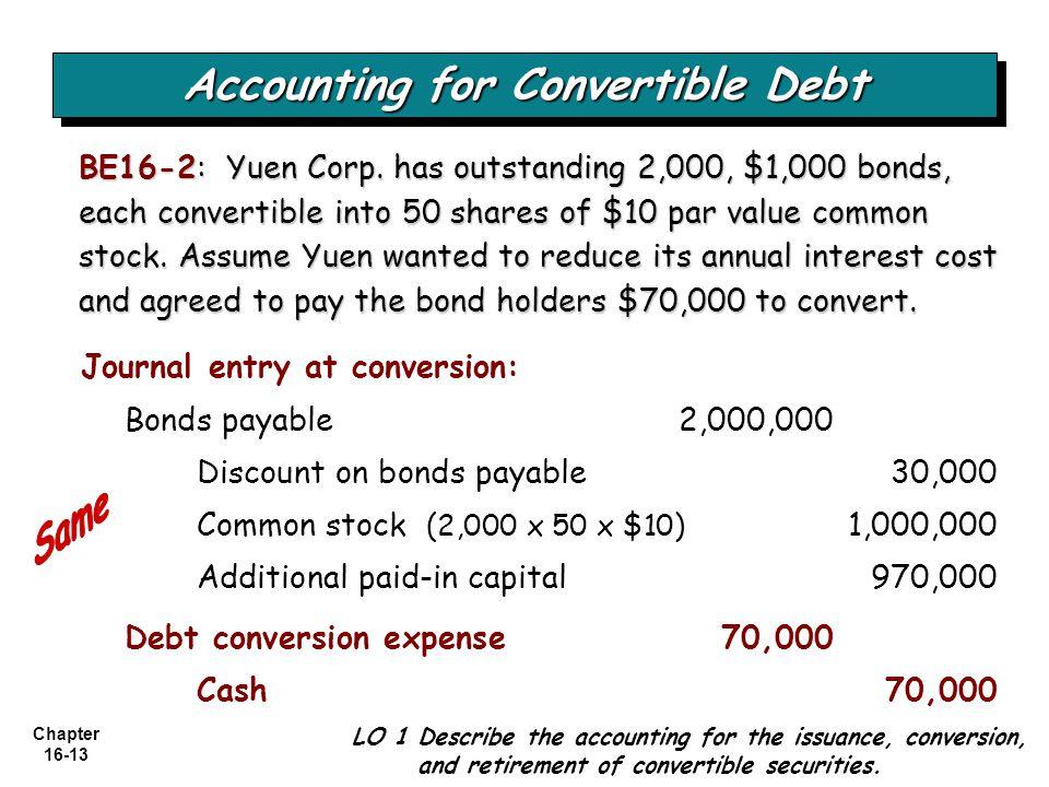 Chapter 16-13 BE16-2: Yuen Corp.