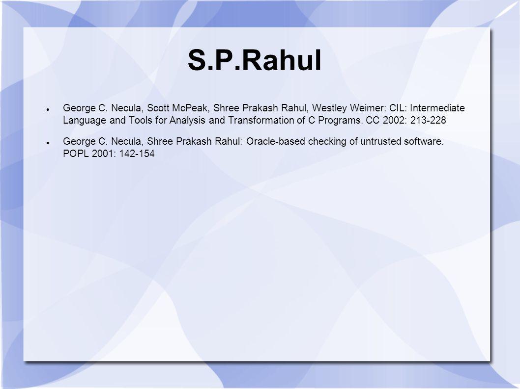 S.P.Rahul George C.