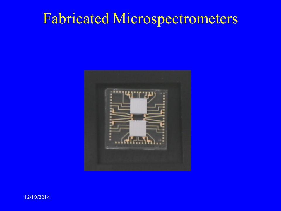 12/19/2014 Fabricated Microspectrometers