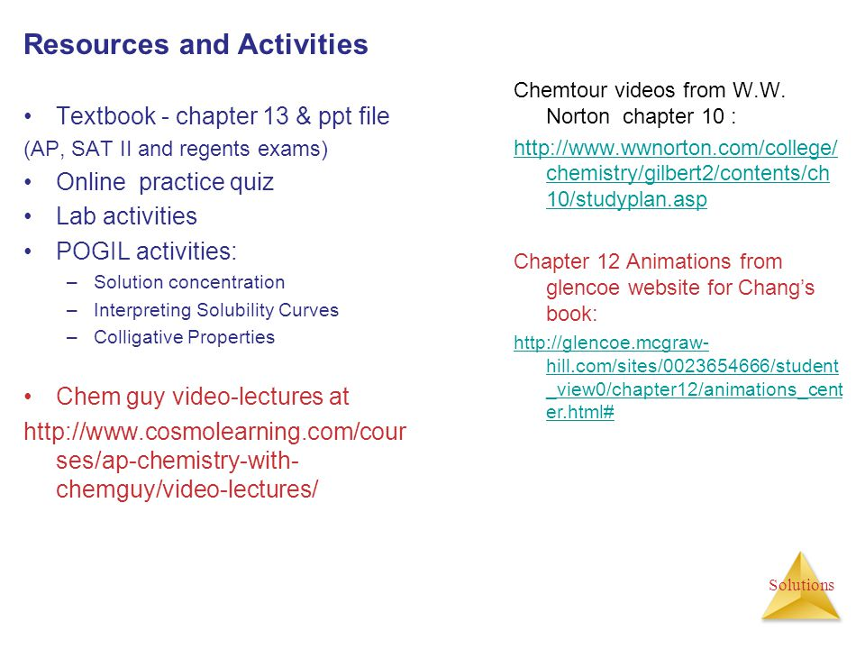 Activities and Problem set for chapter 13 (due date_______) TextBook ch.