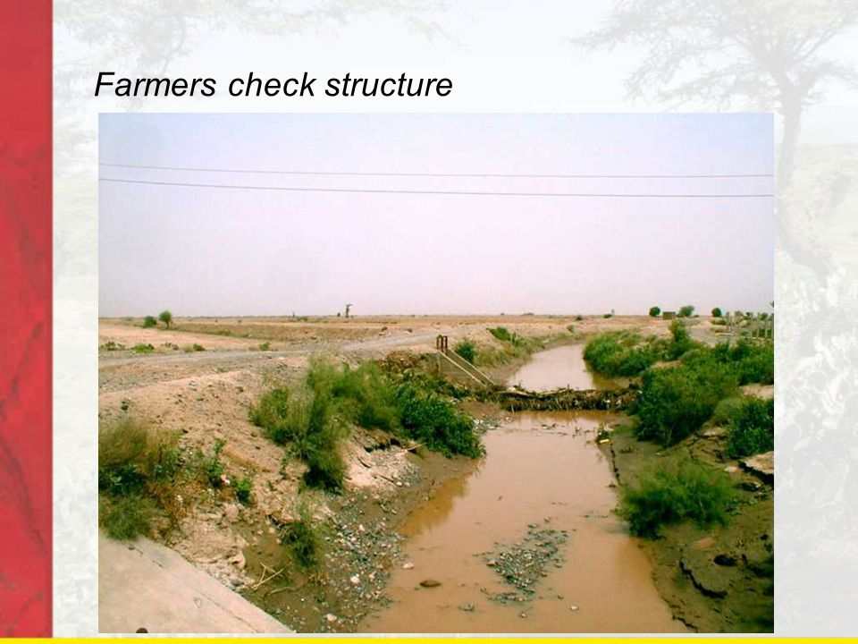 Farmers check structure