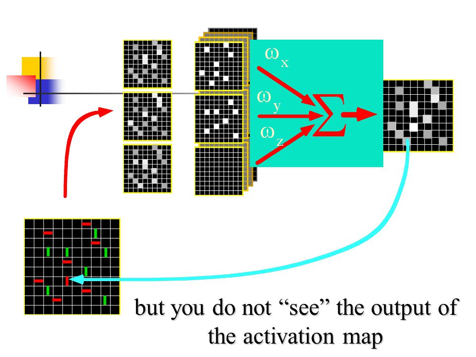 but you do not see the output of the activation map