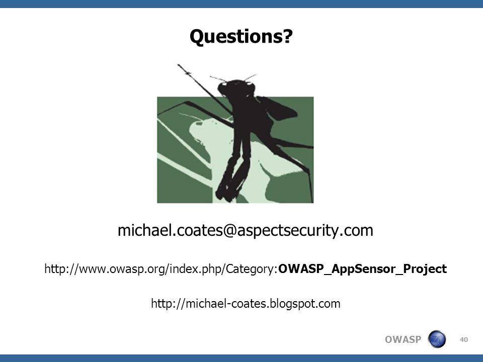 OWASP Questions.