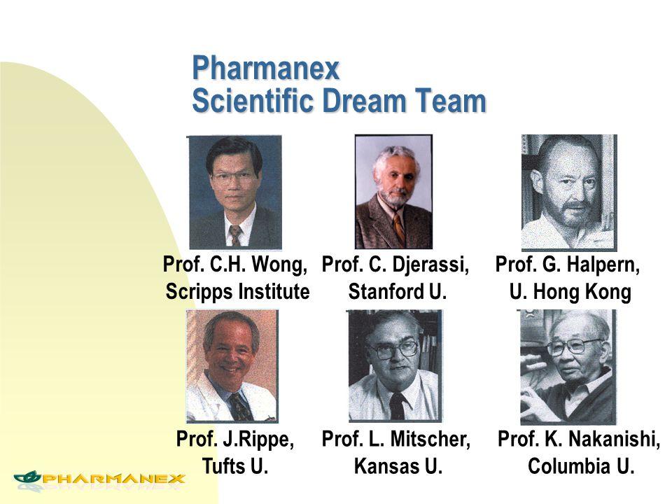 Prof. C.H. Wong, Scripps Institute Prof. C. Djerassi, Stanford U. Prof. G. Halpern, U. Hong Kong Prof. L. Mitscher, Kansas U. Prof. K. Nakanishi, Colu