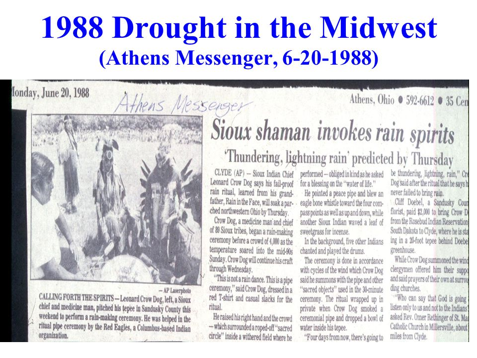 1988 Drought in the Midwest (Athens Messenger, 6-20-1988)