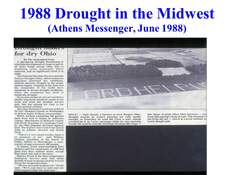 1988 Drought in the Midwest (Athens Messenger, June 1988)
