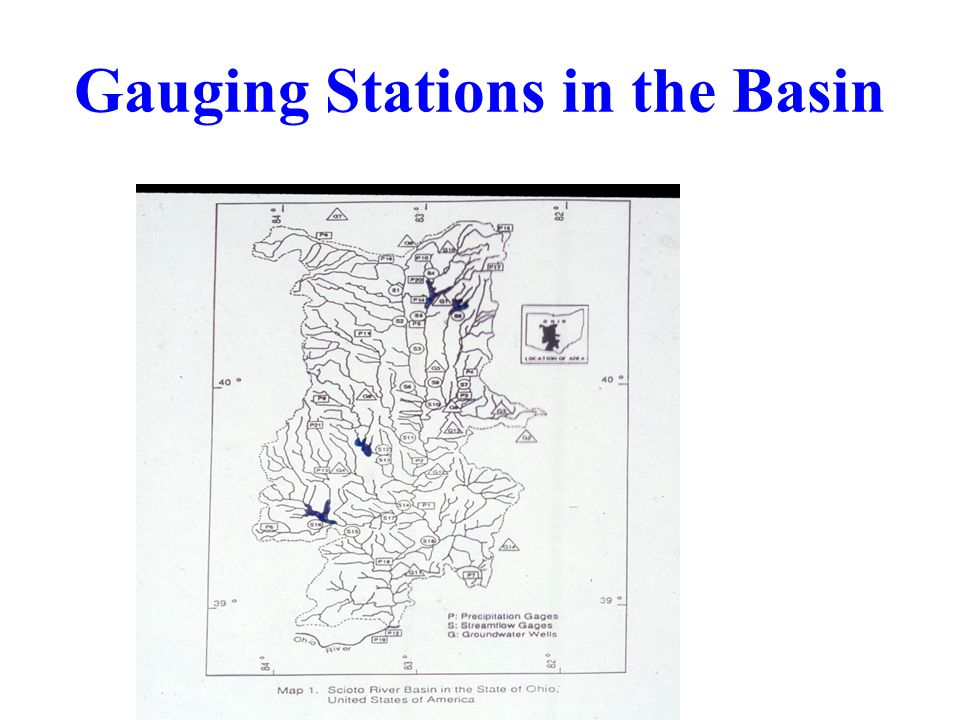 Gauging Stations in the Basin