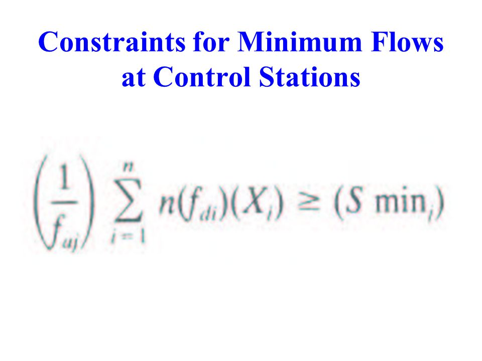 Constraints for Minimum Flows at Control Stations