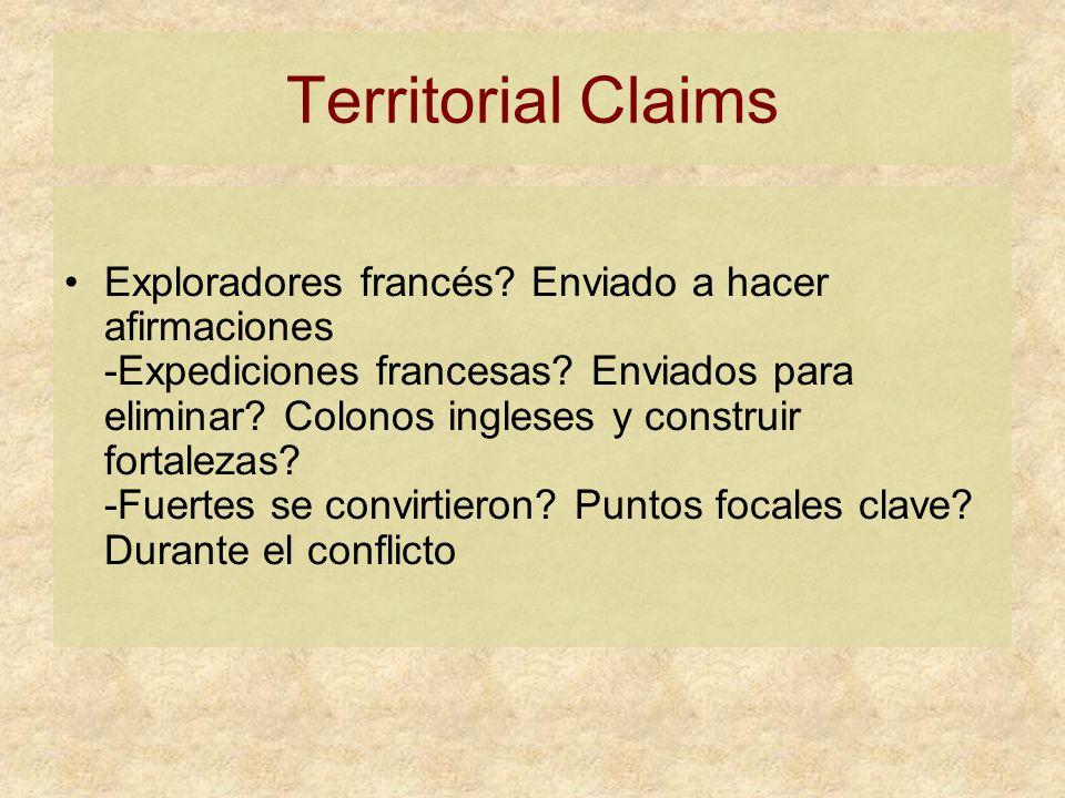 Territorial Claims Exploradores francés. Enviado a hacer afirmaciones -Expediciones francesas.