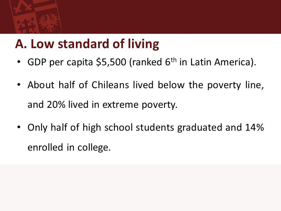 B.Low educational expenditures USD$360 per student a year.