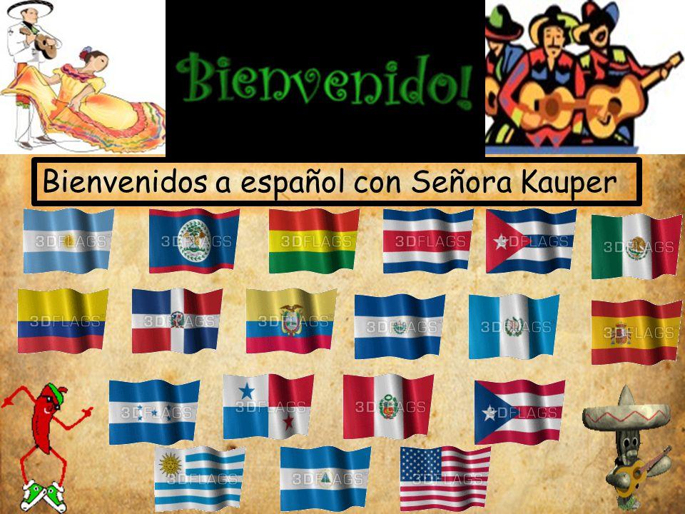 Bienvenidos a español con Señora Kauper
