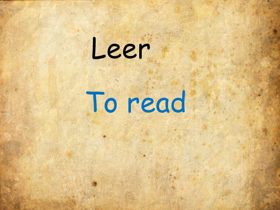 Leer To read