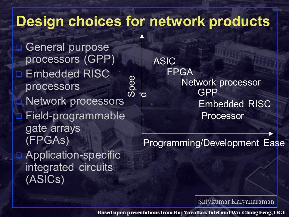 Shivkumar Kalyanaraman Rensselaer Polytechnic Institute 49 Based upon presentations from Raj Yavatkar, Intel and Wu-Chang Feng, OGI For more info….
