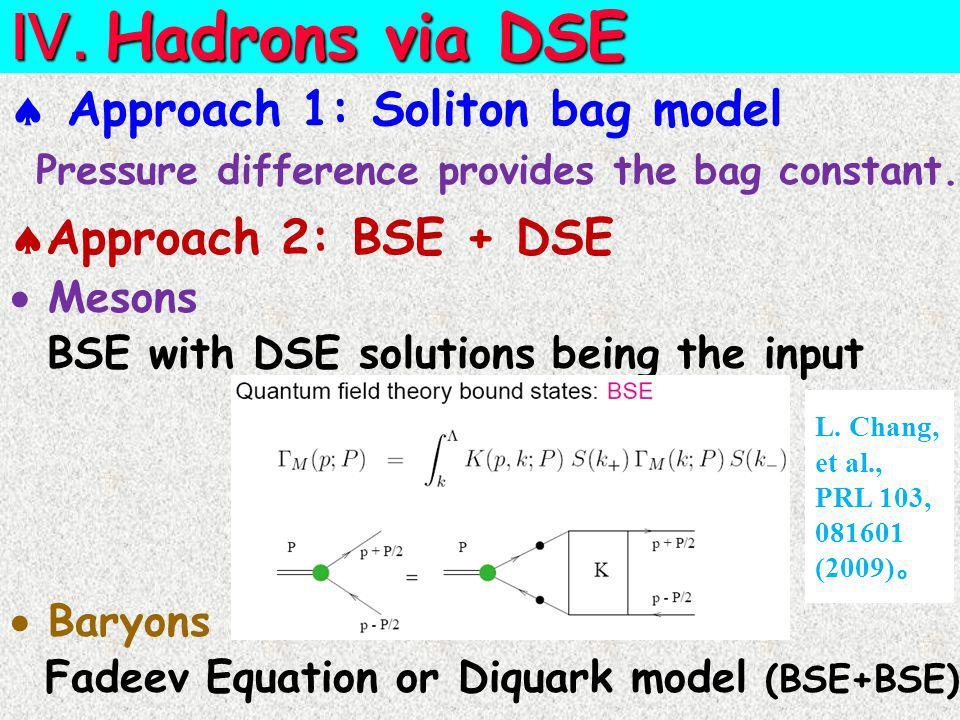  Approach 1: Soliton bag model Ⅳ.