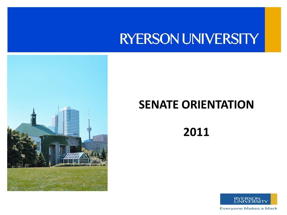 SENATE ORIENTATION 2011