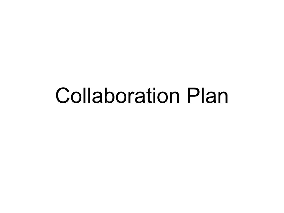 Collaboration Plan