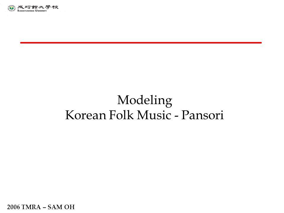 2006 TMRA – SAM OH Modeling Korean Folk Music - Pansori