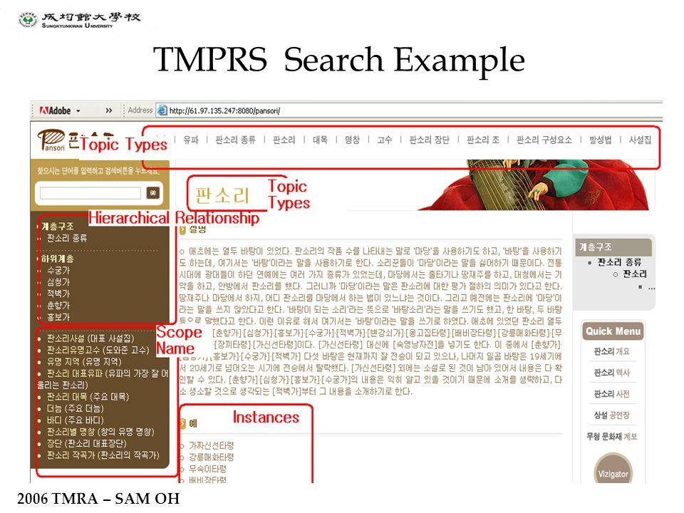 2006 TMRA – SAM OH TMPRS Search Example