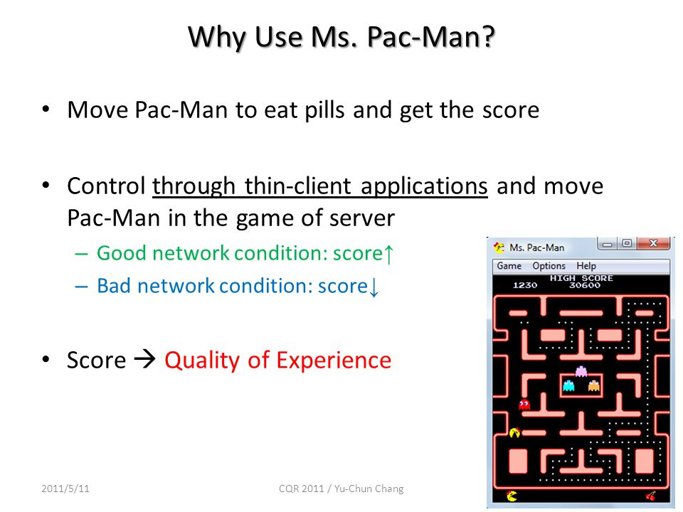 Why Use Ms. Pac-Man.
