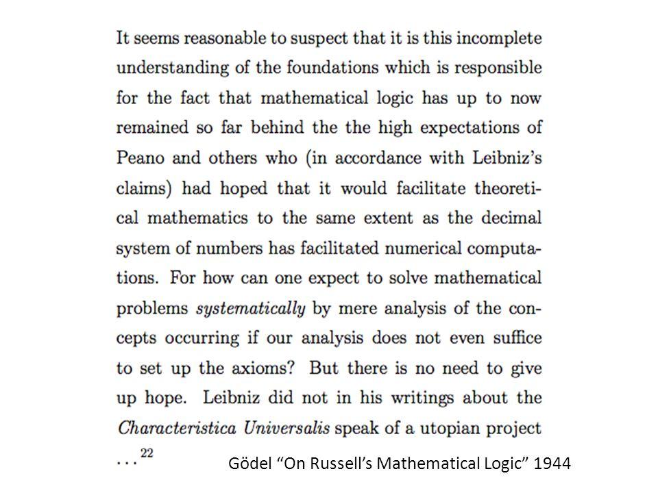 Gödel On Russell's Mathematical Logic 1944