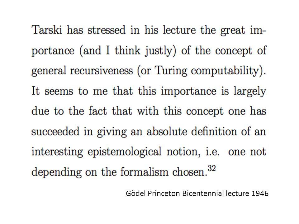 Gödel Princeton Bicentennial lecture 1946