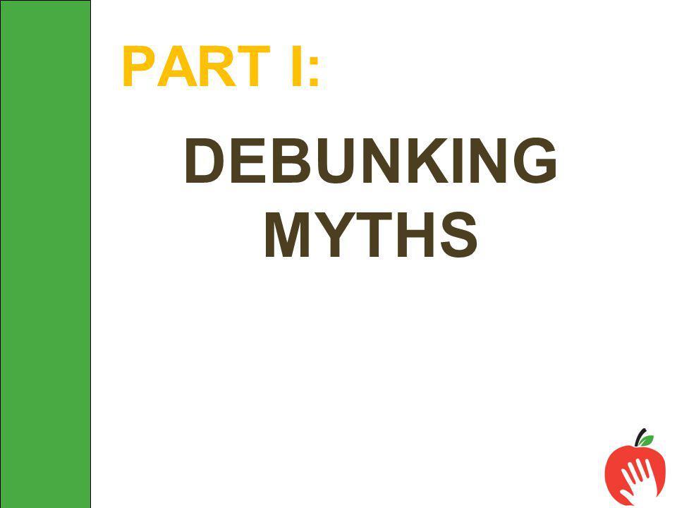 DEBUNKING MYTHS PART I: