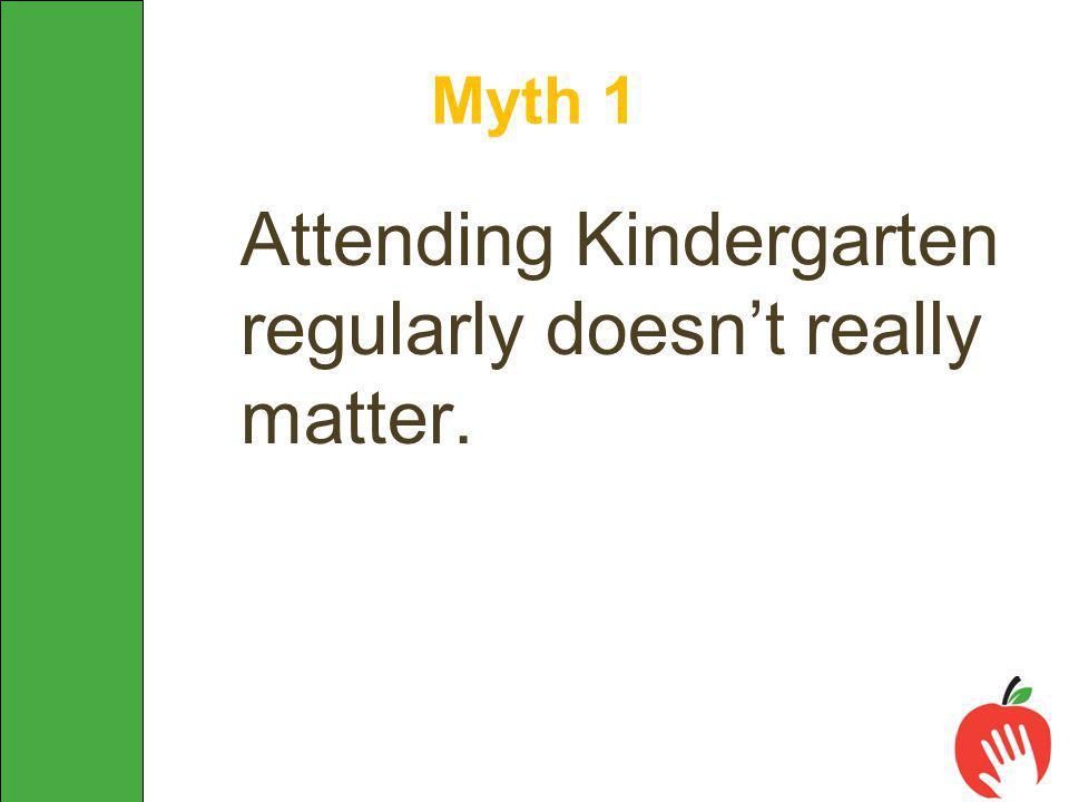 Attending Kindergarten regularly doesn't really matter. Myth 1