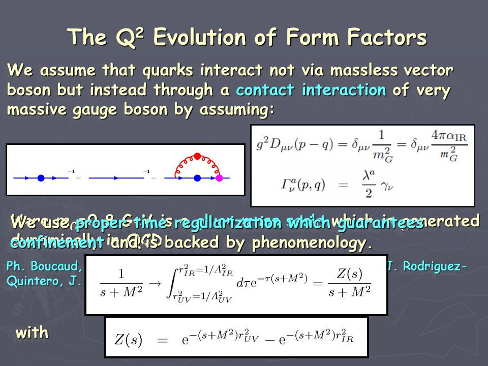 We assume that quarks interact not via massless vector We assume that quarks interact not via massless vector boson but instead through a contact inte