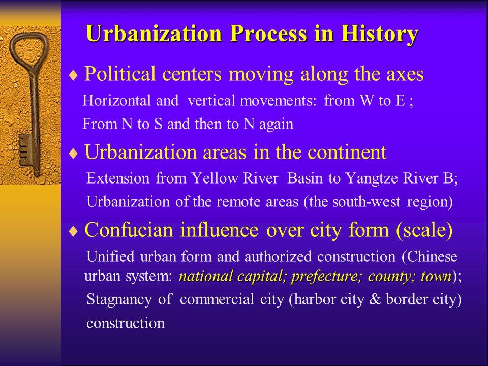 Movement of Capitals and Political Centers in Chinese History Luoyang (Tang D.) Kaifeng (Song D.) Xianyang (Qin D) Chang'an (Han & Tang D.) Hangzhou (Song D.) Beijing (Yuan, Ming & Qing D.)