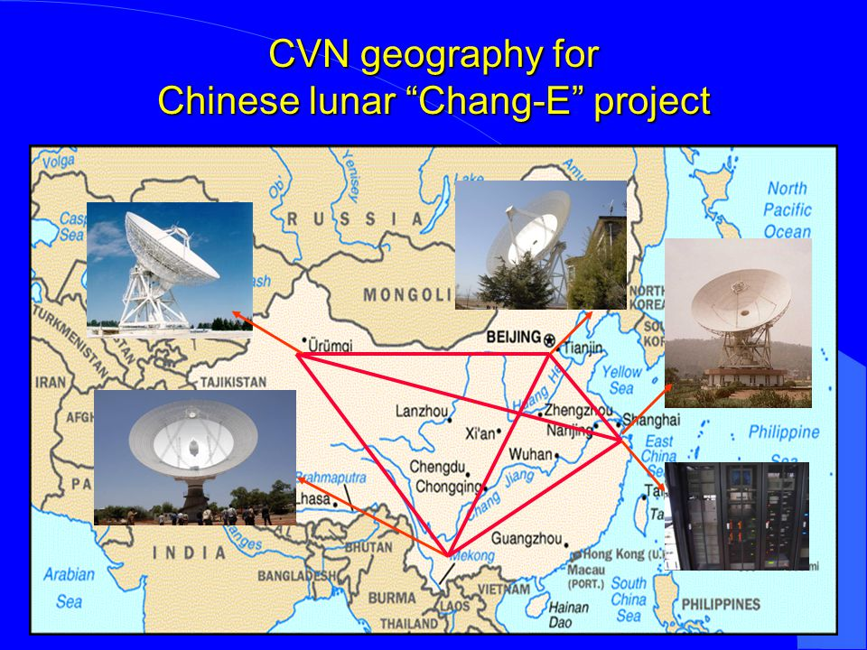 CVN geography for Chinese lunar Chang-E project