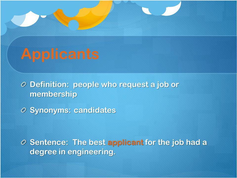 Job applicants in line…