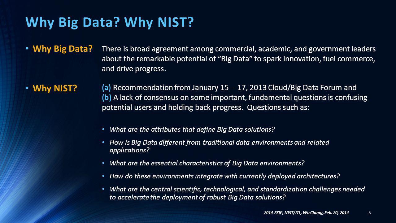 Why Big Data.Why NIST. Why Big Data. Why NIST.