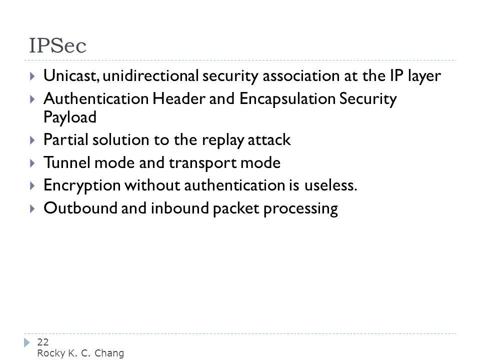 IPSec 22 Rocky K. C.