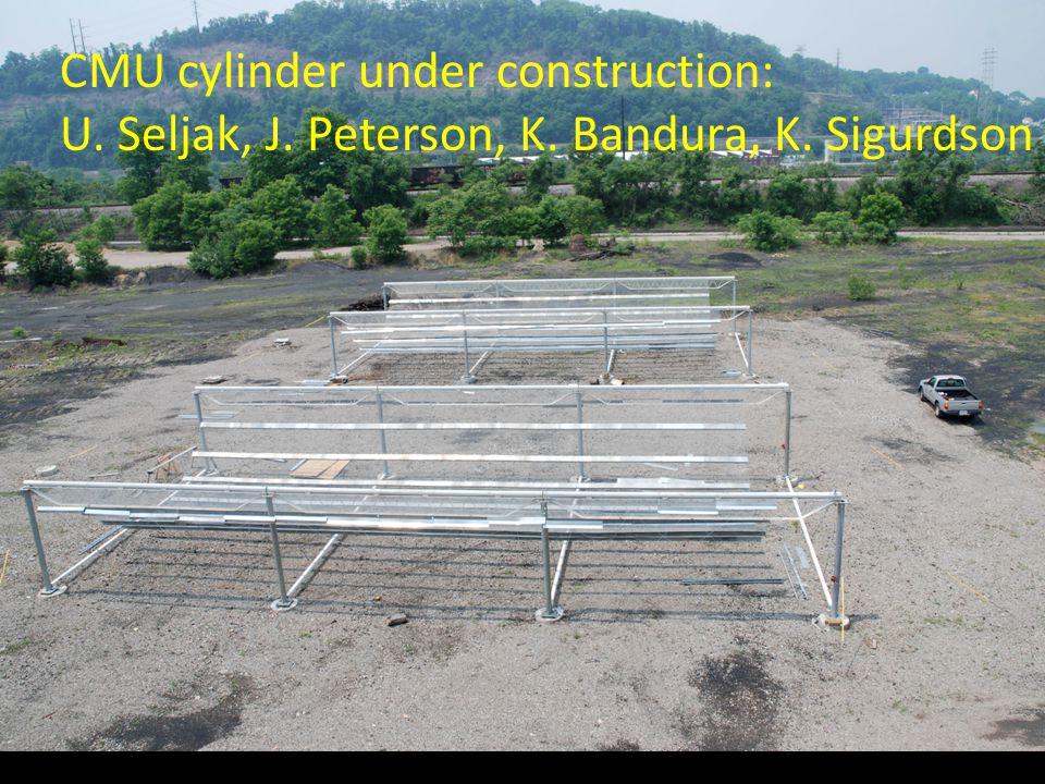 CMU cylinder under construction: U. Seljak, J. Peterson, K. Bandura, K. Sigurdson