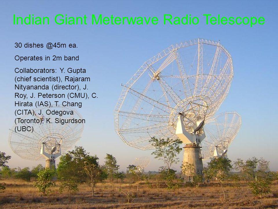 Indian Giant Meterwave Radio Telescope 30 dishes @45m ea.