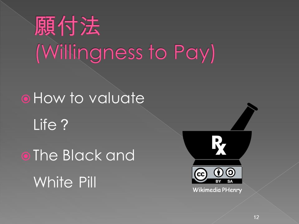  How to valuate Life ?  The Black and White Pill 12 Wikimedia PHenry