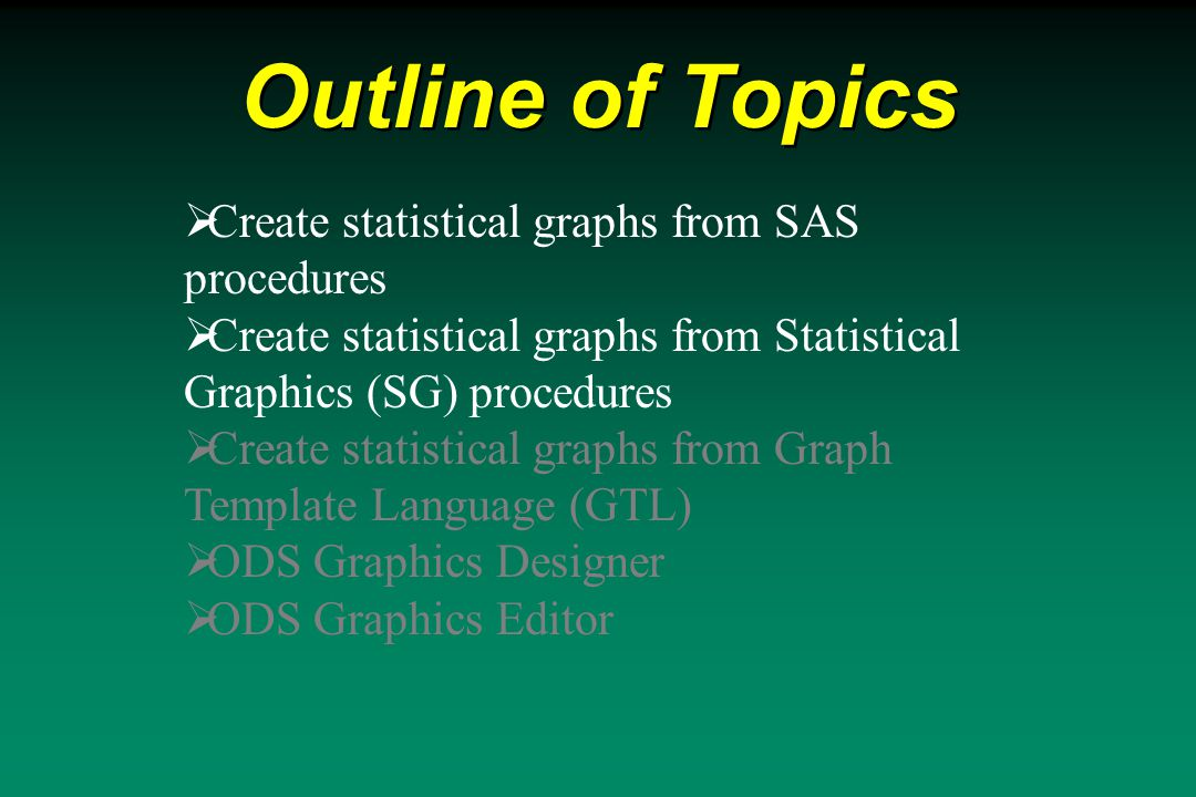 Create Statistical Graphs from SAS Procedures